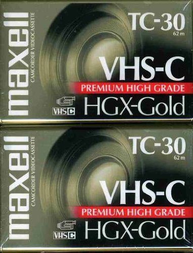 Maxell HGX-GOLD TC-30 Camcorder Video Cassette, 2 Pack