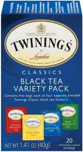 Twinings Variety Pack of Four Flavors, Tea Bags, 20-Count
