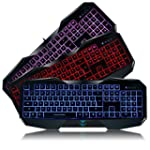 AULA LED Backlit Gaming Keyboard (3 C...