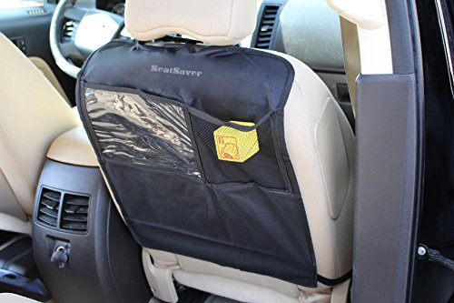 Car Kick Mat - Car Seat Protector - Auto Seat Cover - Prevent Wear and Tear - Child Proof Seat Protector - Easy To Use Seat Organizer - Seat Back Protector And Storage (Set of 2) - 1