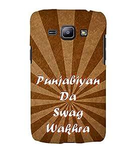 Punjabiyan Da Swag Wakhra 3D Hard Polycarbonate Designer Back Case Cover for Samsung Galaxy J1 2016 :: Samsung Galaxy J1 2016 Duos :: Samsung Galaxy J1 2016 J120F :: Samsung Galaxy Express 3 J120A :: Samsung Galaxy J1 2016 J120H J120M J120M J120T