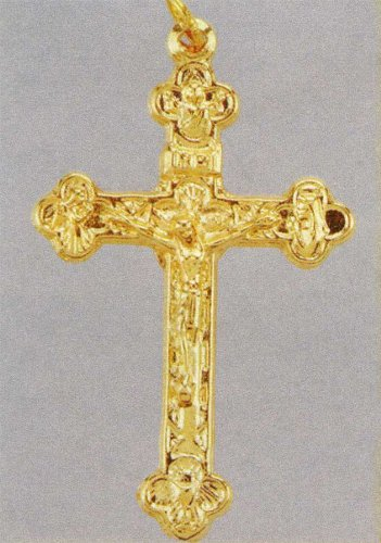 Small Crucifix - Pendant - 1 and 3/4in. Height - Byzantine Cross - IMPORTED FROM ITALY
