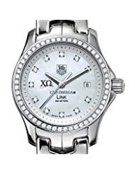 Chi Omega Women's TAG Heuer Link Watch with Diamond Bezel