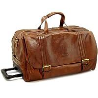 Maxwell Scott Luxury Wheeled Leather Luggage (The DinoL)