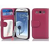Cadorabo ! PREMIUM - Book Style H�lle im Portemonnaie Design f�r Samsung Galaxy S3 und S3 NEO (GT-i9300 / GT-i9301) mit Spiegel und Kartenf�cher in HOT-PINK