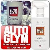 Autoglym Car Valet Super Effective & Quick All Alloy Cleaner Clean Wheels + Genuine Mug Cup