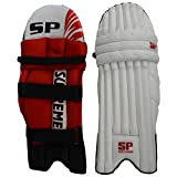 SP Sports Panther Master Unisex Leather And PU Leg Guard Boys White