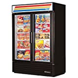 True Refrigeration GDM-49FLD BK Freezer Glass Door Merchandiser, LED, Black, 49 cu ft, Each