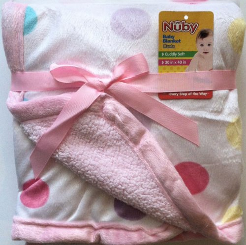 Pink Plush Baby Blanket Reversable - 1