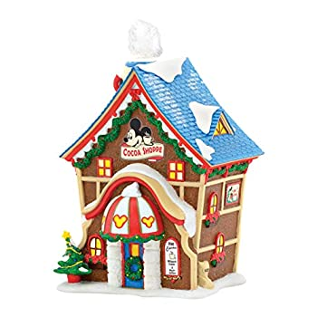 Department 56 Disney Village From Mickeys Cocoa Shoppe Lit House 6.89 In