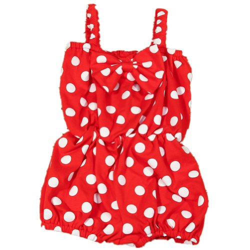 ANDI ROSE Baby Infant Toddler Girls Sleeveless Bowknot Outfit Romper