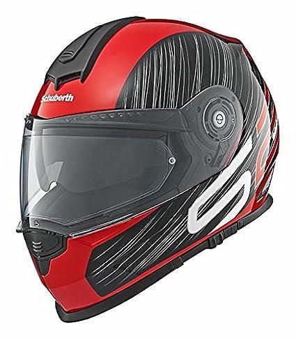 Casque rouge de moto de drague de sport de Schuberth S2