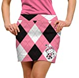 Loudmouth Hello Kitty Pink & Black Arglye Skort
