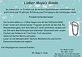 Mopu's® Krabbelschuhe - ÖKOLEDER - Mopus Exklusiv in Tabenblau mit Löwenkopf ... -
