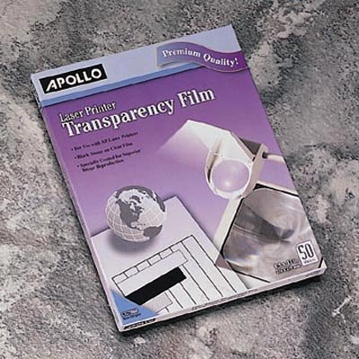 Apollo c/o Acco World / Transparency Film, For All BK/WE Laser Printers, 8-1/2