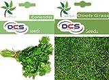 DCS Coriander & Doob Grass Seeds(Pack of 2 Per Pack 1 Grams)