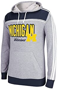Adidas Michigan Wolverines Adult Lightweight Pullover Hooded Sweatshirt by adidas