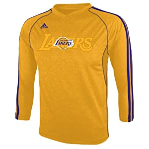 NBA Los Angeles Lakers Youth 8-20 Long Sleeve On-Court T-Shirt by adidas