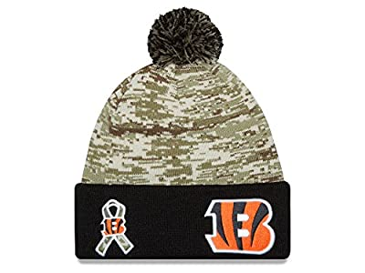 NFL 2015 Men's Salute to Service Knit Hat (OSFM, Cincinnati Bengals)