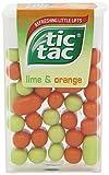 Tic Tac Sweets Mints 5 Flavours - Strawberry, Mint, Intense Mint, Cherry Passion, Lime & Orange (Lime & Orange, 24 Packs (Full Box))