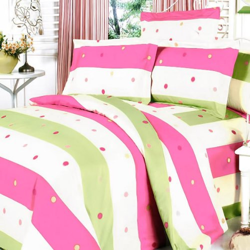 Blancho Bedding - [Colorful Life] 100% Cotton 3PC Mini Comforter Cover/Duvet Cover Set (King Size)