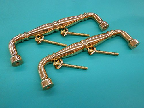 2 Briggs Solid Polished Brass Cabinet Door Handle Pull Kitchen Bathroom Hardware (Chevy S10 3rd Door Latch compare prices)