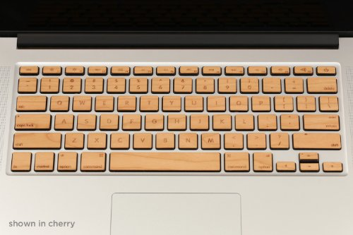 For Apple Keyboards - Lazerwood's 100% Real Cherry Wood Keys For MacBook Pro