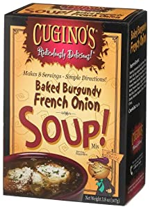 Cugino's Gourmet Foods, Ridiculously Delicious Soups, 8 Cup Baked Burgundy French Onion Soup, 3.8-Ounce Boxes (Pack of 6)