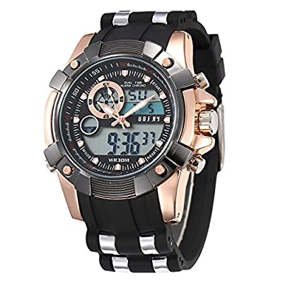 OOFAY ®Men's Multi-functional Military Alarm Time Keeper LCD Analog-digital Sports Watch