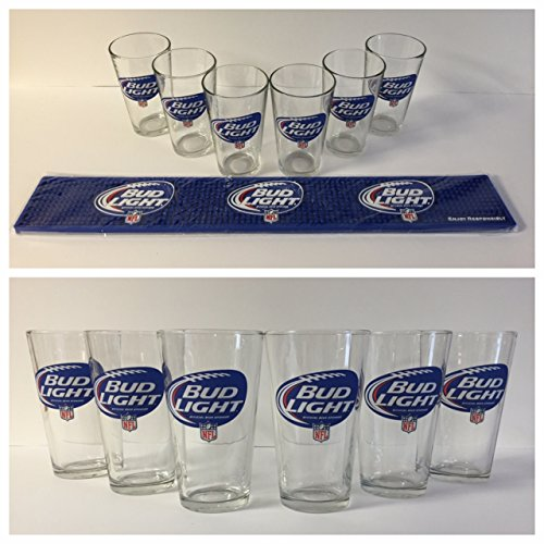 bud-light-nfl-draft-kit-combo-6-16-oz-glasses-1-bar-mat