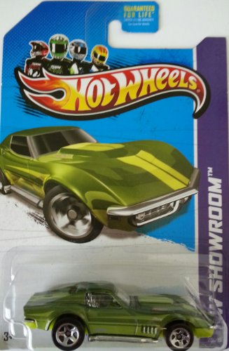 Hot Wheels HW Showroom - 2013 '69 Corvette (Green) 201/250 - 1