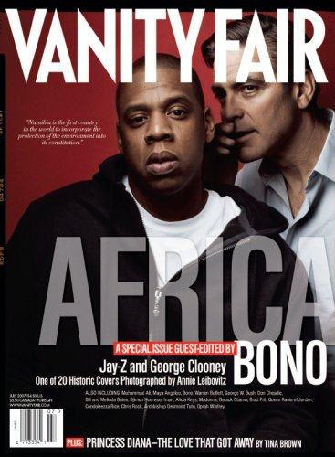 Vanity Fair July 2007 Africa Issue, Jay-Z/Clooney Cover