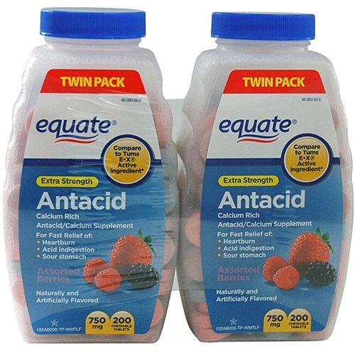 Equate Extra Strength Antacid TwinPack Compare to Tums EX