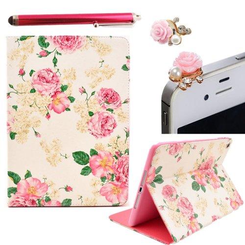 Vandot-Smart-Tablet-Set-Accessori-Altro-3IN1-Per-Samsung-Galaxy-Tab-2-101-Hlle-GT-P5100-P5100-P5110-Display-Android-Magnetictablet-1x-Custodia-Shell-Peonia-Premium-Copertura-Astuta-Di-Cuoio-Della-Cope