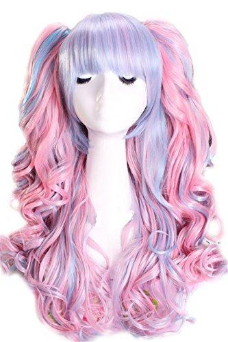 nuoqir-femmes-55cm-de-long-melangent-rose-multicolore-lolita-boucle-vague-bleue-clip-on-two-ponytail