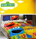Sesame Street 4 Piece Twin Sized Bedding Set - Comforter and Sheet Set
