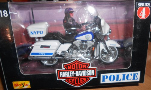 Maisto Harley Davidson Motorcycles (Series 4 1998) 1:18 Scale NYPD Police Bike