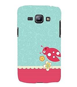 Beetle Pattern 3D Hard Polycarbonate Designer Back Case Cover for Samsung Galaxy J2 (2016)