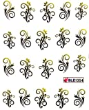Ggsell Yao Shun Fashion Design Nail Decals Water Transfer Decals Stickers Flower Vine
