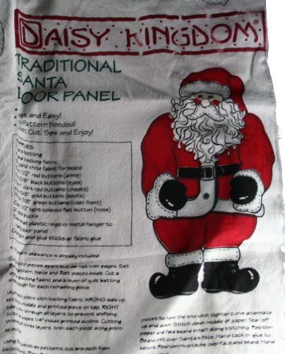 Daisy Kingdom Traditional Santa Door Panel Fabric Panel