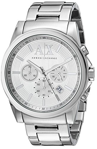 Armani Exchange AX2058 46mm Silver Steel Bracelet & Case Men's Watch