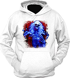 Sinister Skeleton Ghost Hoodie White 3XL