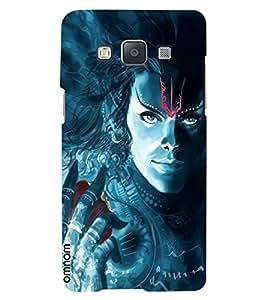 Omnam God In Blue Effect Printed Designer Back Case Samsung Galaxy A7