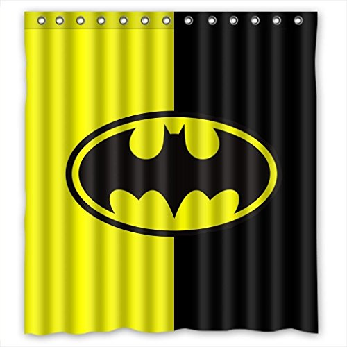 Custom Batman Logo Pattern Waterproof Bathroom Shower Curtain 100% Polyester Fabric Shower Curtain Standard Size 66 X 72