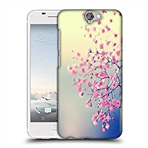 Snoogg Pink flowers serene Designer Protective Back Case Cover For HTC one A9