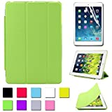 BESDATA Ultra Thin Magnetic Smart Cover [Wake/Sleep Function] & Translucent Back Case for Apple 1st Gen Generation iPad Mini + Screen Protector + Cleaning Cloth + Stylus (Green)