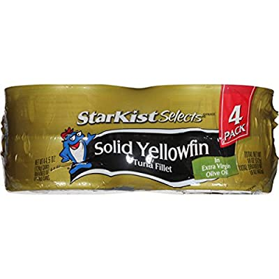 StarKist Selects Solid Light Tuna in Extra Virgin Olive Oil, 4.5 Ounce (Pack of 4) from Starkist
