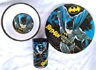Dc Comics BATMAN Melamine Dinnerware 3 Piece Set