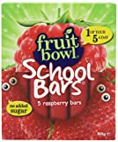 Fruitbowl Raspberry School Bars Multi-Packs 20 g (Pack of 12, Total 60 Bars)