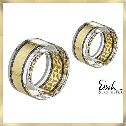 Eisch Serviettes Delor Lot de 2Anneau-Diamètre 50mm-Eisch verres du fabricant primé Verre No 1niche Eisch